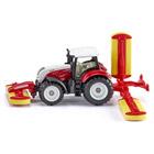Tracteur avec combi faucheuses