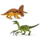 Petit Tricératops et Thérizinosaure