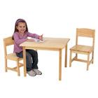 Ensemble table et 2 chaises Aspen naturelle