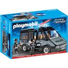 6043-Fourgon de Police avec Sirène et Gyrophare - Playmobil
