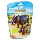 6945-Hippopotame et son petit  - Playmobil Wild Life