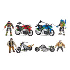 Tortues Ninja 2 véhicule de combat et sa figurine 12 cm
