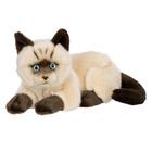 Peluche Chat Siamois Couché 25 cm