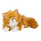 Peluche chat roux longs poils 25 cm