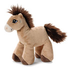 Peluche cheval marron 15 cm