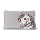 Coussin rectangulaire Cheval Miracle Blanc