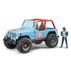 Jeep Cross Country Racer Bleue avec conducteur