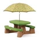 Table Picnic avec parasol Marron