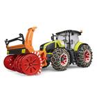 Tracteur Claas Axion 950 avec chaines et souffleuse à neige