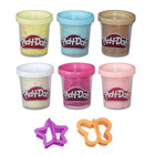 Playdoh-6 pots confetti