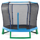 Trampoline Junior Bleu avec Filet 2m20
