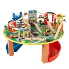 Train en bois et table city explorers