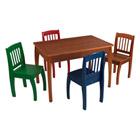 Table euro miel et ses quatre chaises