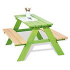 Table pique nique verte 4 places