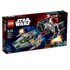 75150-Le TIE Advanced de Dark Vador contre l'A-Wing Starfighter