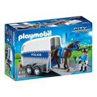 6922-Policière avec cheval et remorque - Playmobil City Action