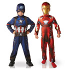 Costumes Captain America et Iron Man taille L