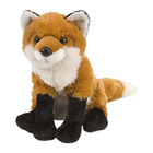 Peluche renard roux 30 cm