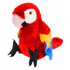Peluche perroquet rouge 30 cm