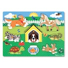 Puzzle bois encastrement animaux