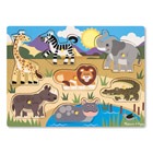 Puzzle bois encastrement safari