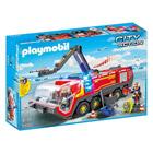 5337-Pompiers avec véhicule aéroportuaire - Playmobil pompiers et aéroport