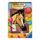 Numero d'art mini cheval dans box