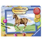 Numero art petit format cheval galop