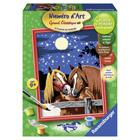 Numero Art moyen chevaux romantiques