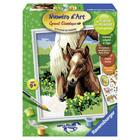 Numero art moyen chevaux tendres jument