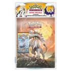 Cahier Pokémon avec un booster Pokemon lune et soleil