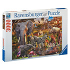 Puzzle 3000 pièces Ravensburger Animaux africain