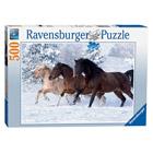 Puzzle 500 pièces Nathan Galop dans la neige