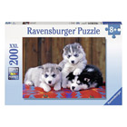 Puzzle 200 pièces XXL huskies