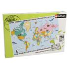 Puzzle maxi 250 pièces carte du monde