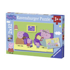 Puzzle 2x12 pièces maison Peppa Pig