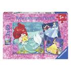 Puzzle 3x49 pièces Disney Princesse