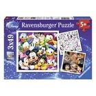 Puzzle 3x49 pièces disney