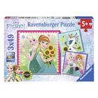 Puzzle 3x49 pièces La Reine des Neiges