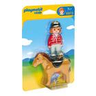 6973-Cavalière avec cheval