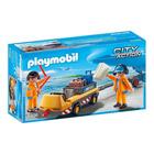 5396-Agents avec tracteur à bagages - Playmobil pompiers et aéroport
