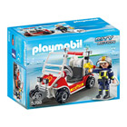 5398-Chef des Pompiers avec voiturette - Playmobil pompiers et aéroport