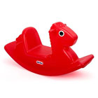 Cheval à bascule rouge