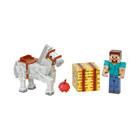 Coffret Minecraft Steve et cheval blanc