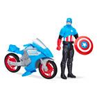 Captain America Avengers 30 cm avec moto