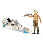 Poe Dameron avec véhicule Speed bike Star Wars 30 cm