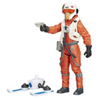 X wing Pilot Asty figurine Star Wars 10 cm Glace et Desert
