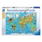 Puzzle 5000p Carte du monde