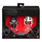 Star Wars Mini Casque Die Cast Black Series Kylo Ren & Poe Dameron