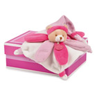 Mini doudou collector Ours fluschia